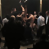 Cecilia Vega gets gangbanged and dominated while crowds watch