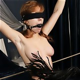 Bound cutie getting gagged and smothered