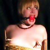 It was dark and cold in the BDSM dungeon when slutty blonde short haired slaved Alice realized that her master is going to have fun with her and that he is going to make her cum several times